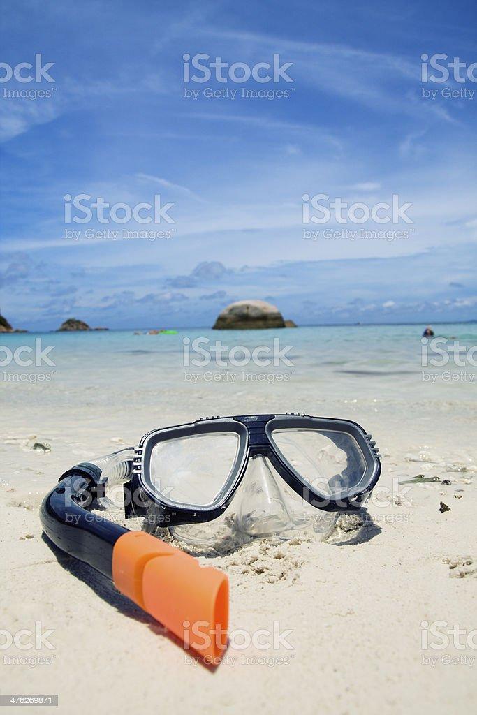 Taucherbrille royalty-free stock photo