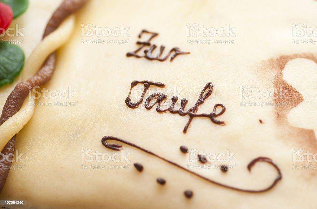 taufe - Taufkuchen aus Marzpian stock photo