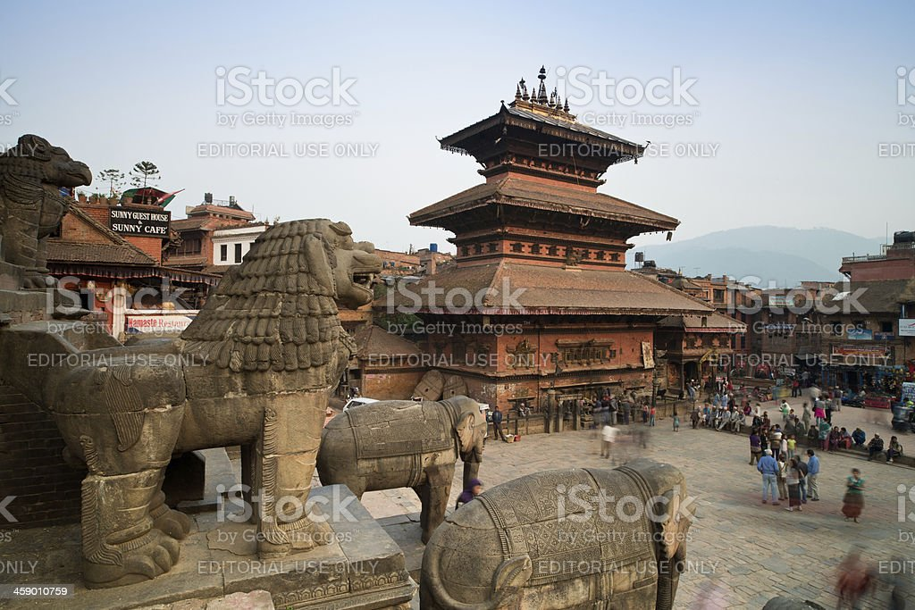 Taumadhi place in Bhaktapur, Nepal royalty-free stock photo
