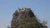 Taung Kalat Volcanic chimney, Pedestal Hill , Popa Mount, Myanmar