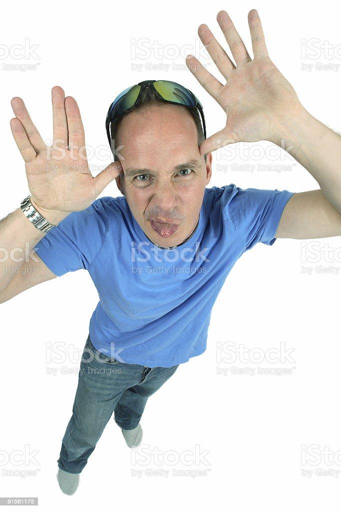 Taunting Man stock photo