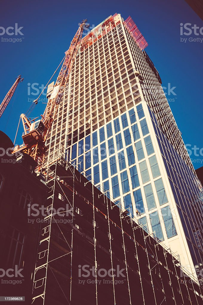 Taunustrum in Frankfurt am Main - Construction site royalty-free stock photo