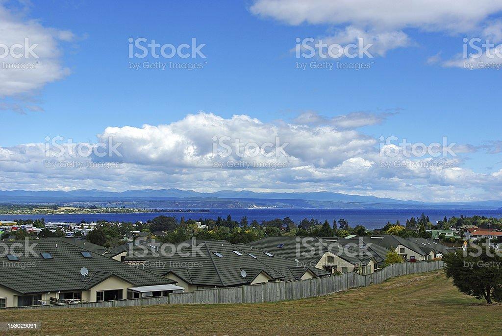 Taupo lake stock photo