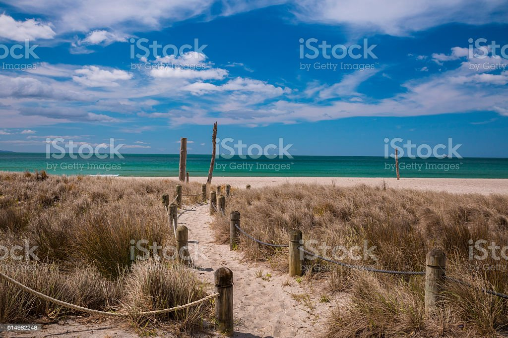 Tauranga Beach stock photo