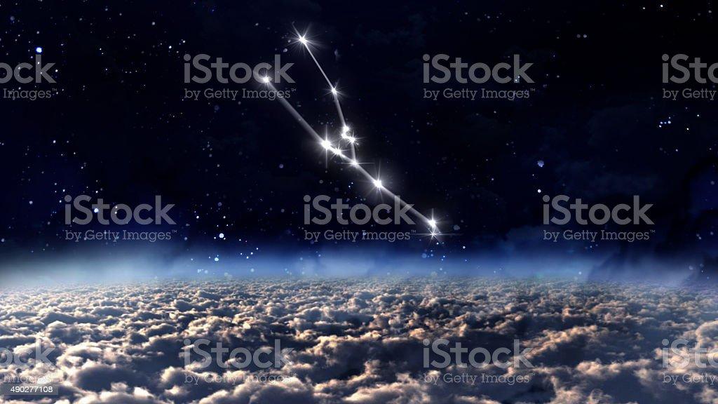 2 Taurus Horoscope space white stock photo