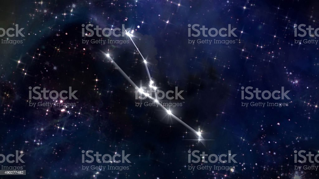 2 Taurus Horoscope star white stock photo