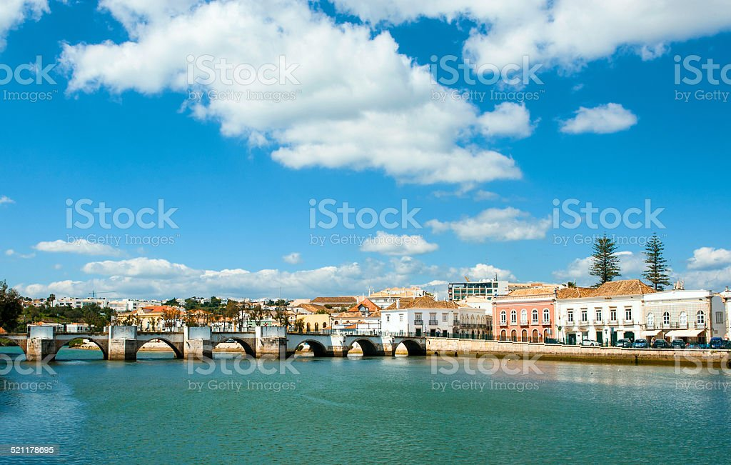 Tavira in Portugal stock photo