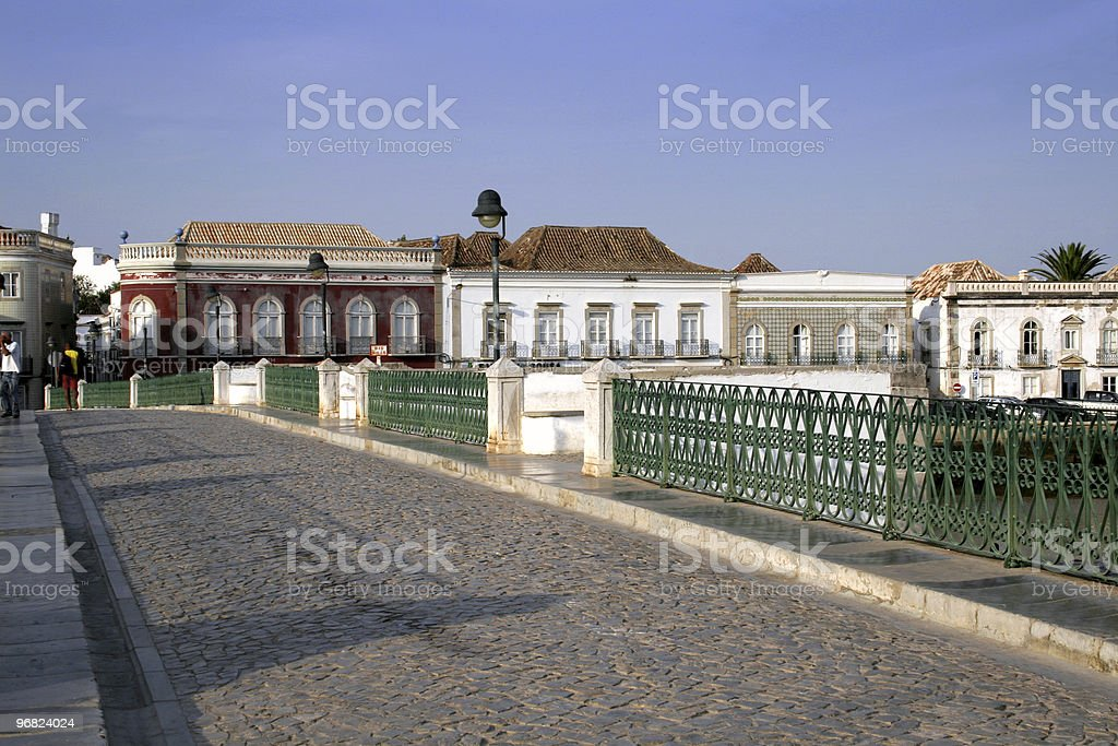 Tavira old bridge stock photo