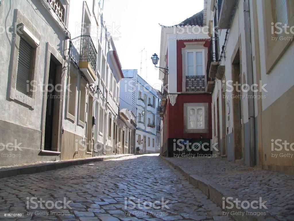 Tavira street stock photo