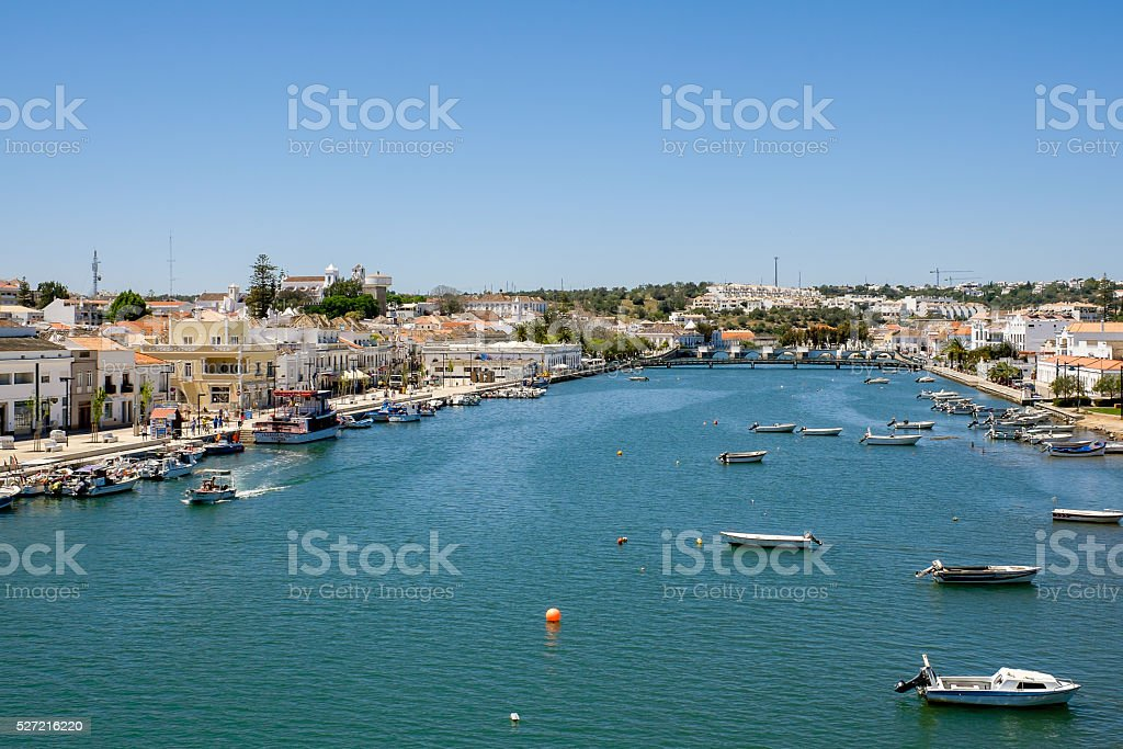 Tavira, view from high bridge stock photo