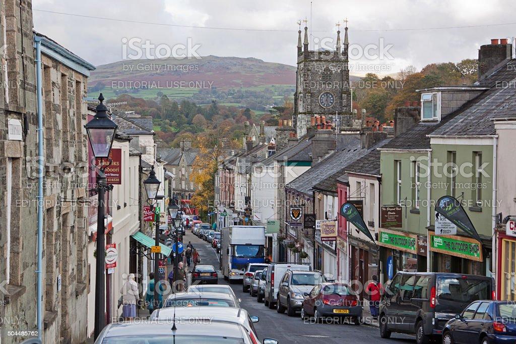 Tavistock, a Devon market town on the edge of Dartmoor stock photo