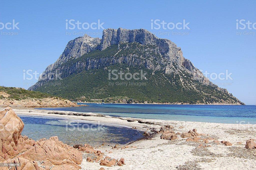 Tavolara Island stock photo