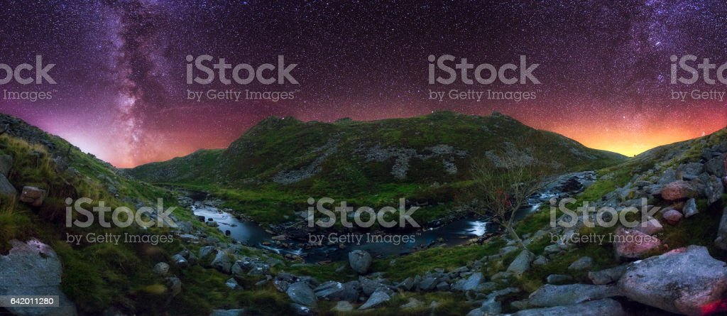 Tavy Cleave at Night stock photo