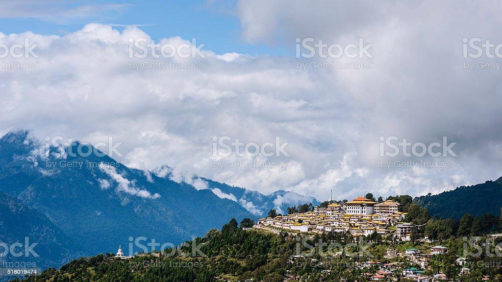 Tawang Buddhist monastery, Arunachal Pradesh, India. stock photo