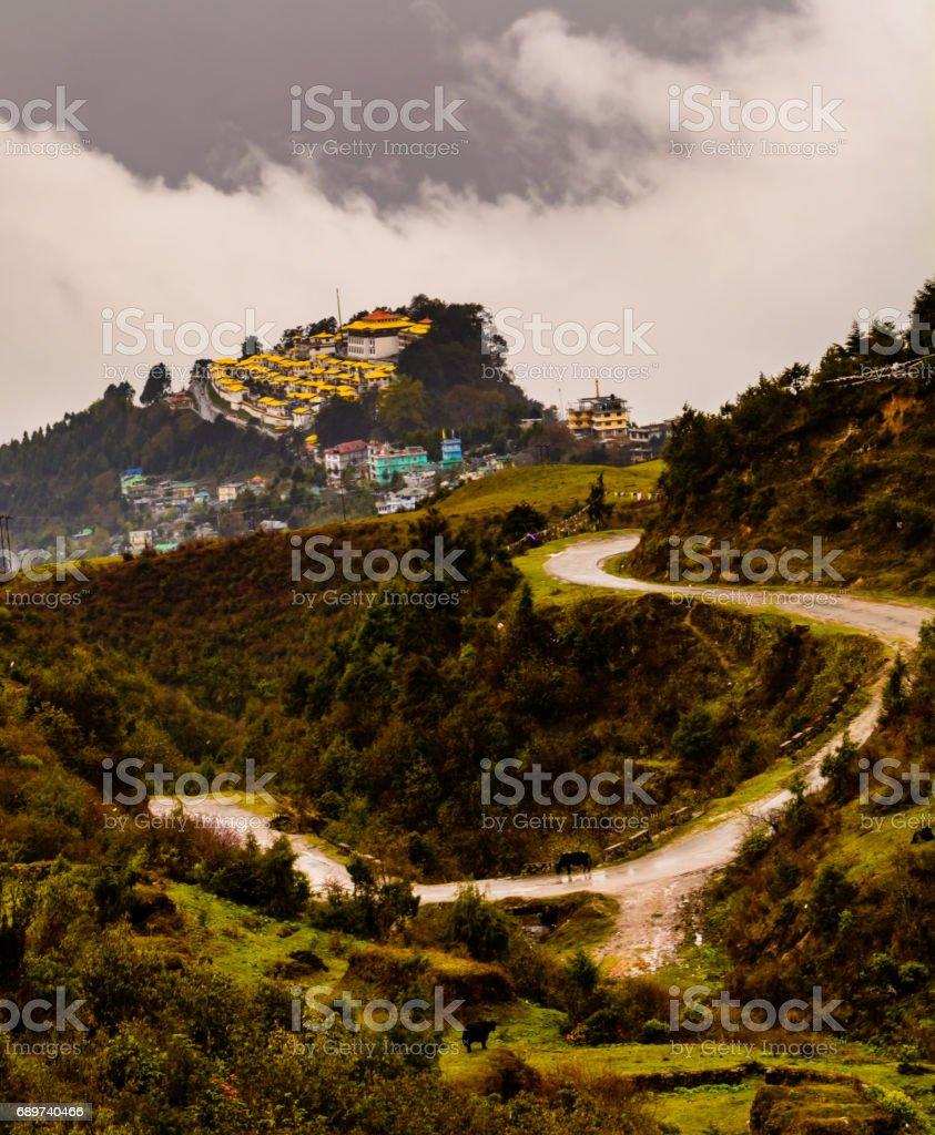 Tawang monastary stock photo