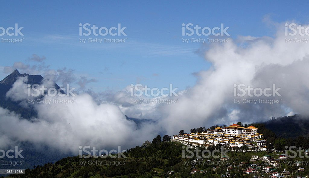 Tawang Monastery Arunachal Paradesh stock photo