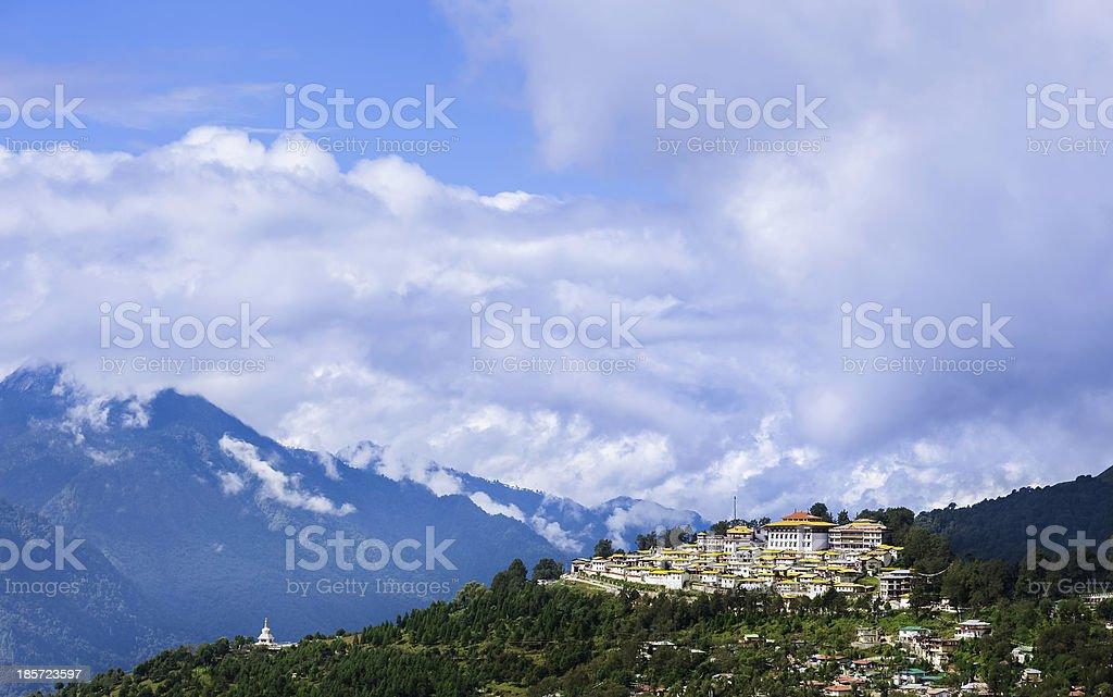 Tawang monastery, western Arunachal Pradesh, India. stock photo