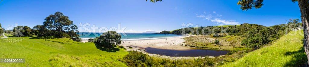 Tawharanui stock photo