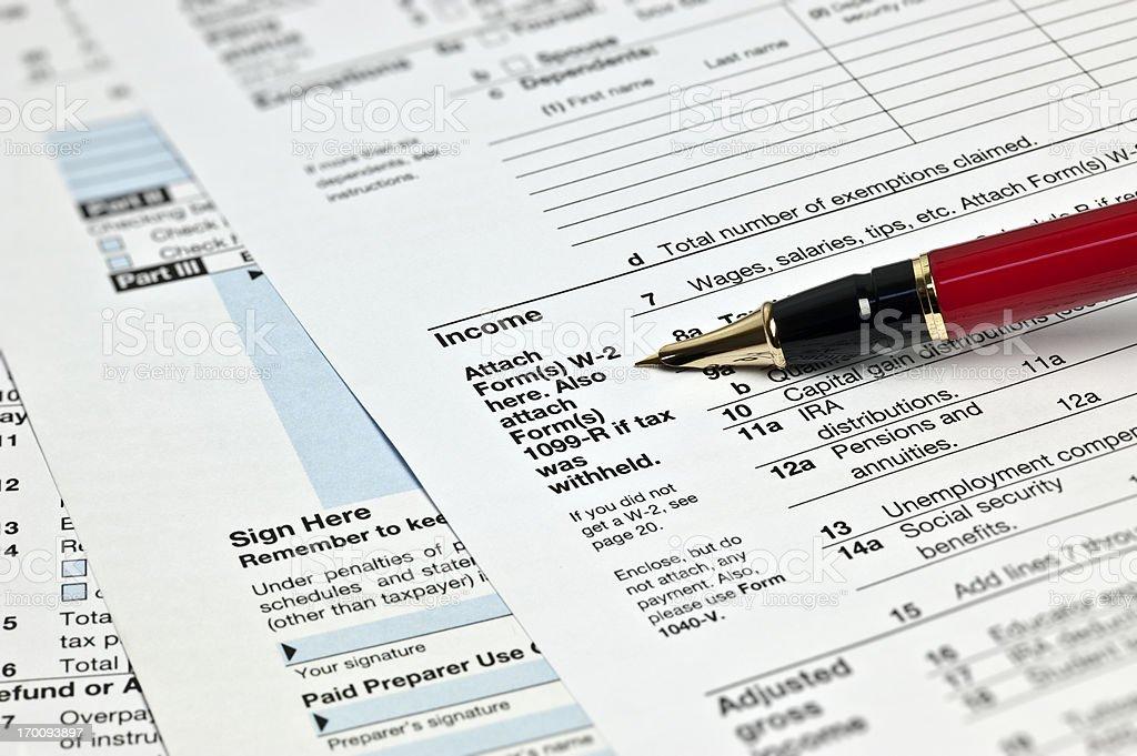 Tax 1040x Form stock photo