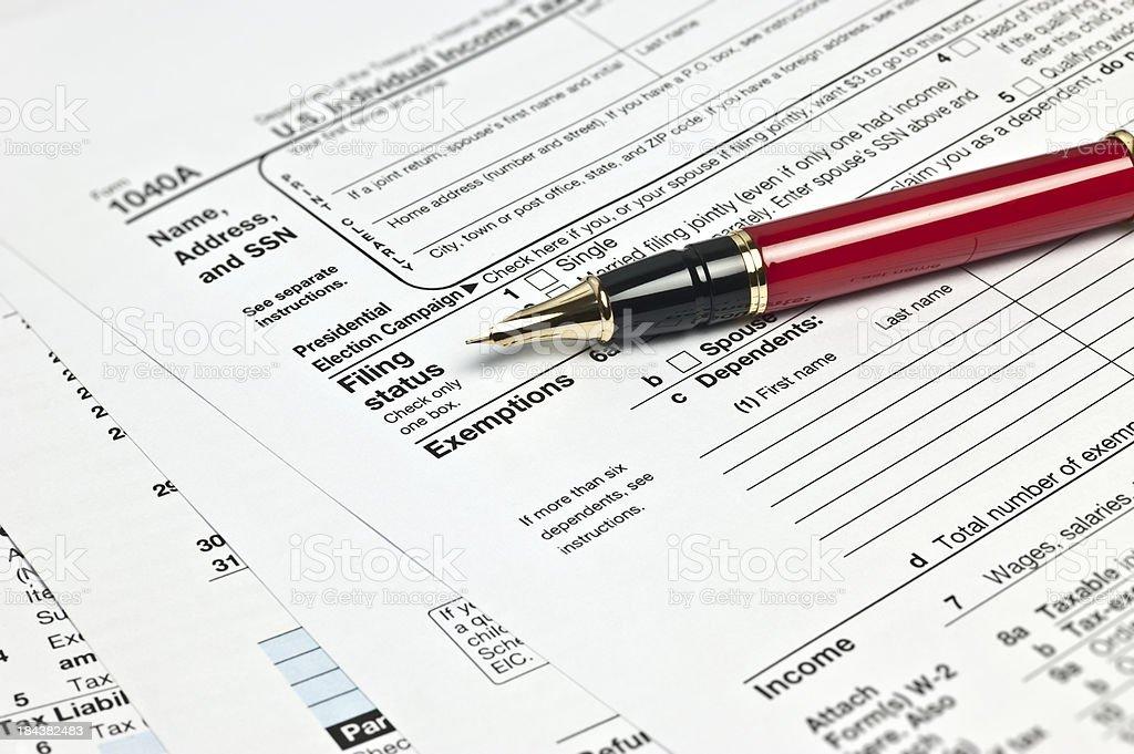 Tax 1040x Form royalty-free stock photo