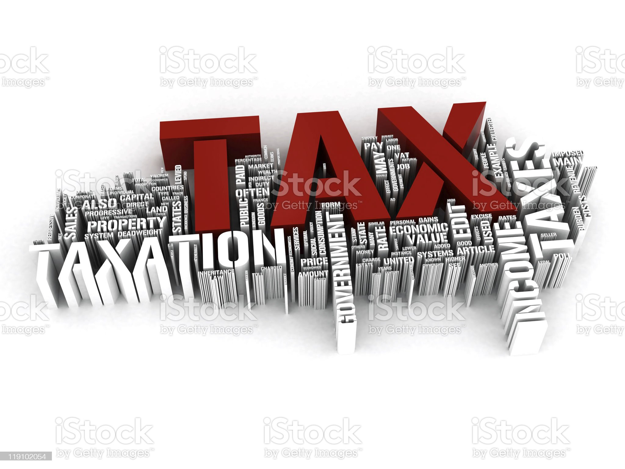 Tax 3d concepts royalty-free stock photo