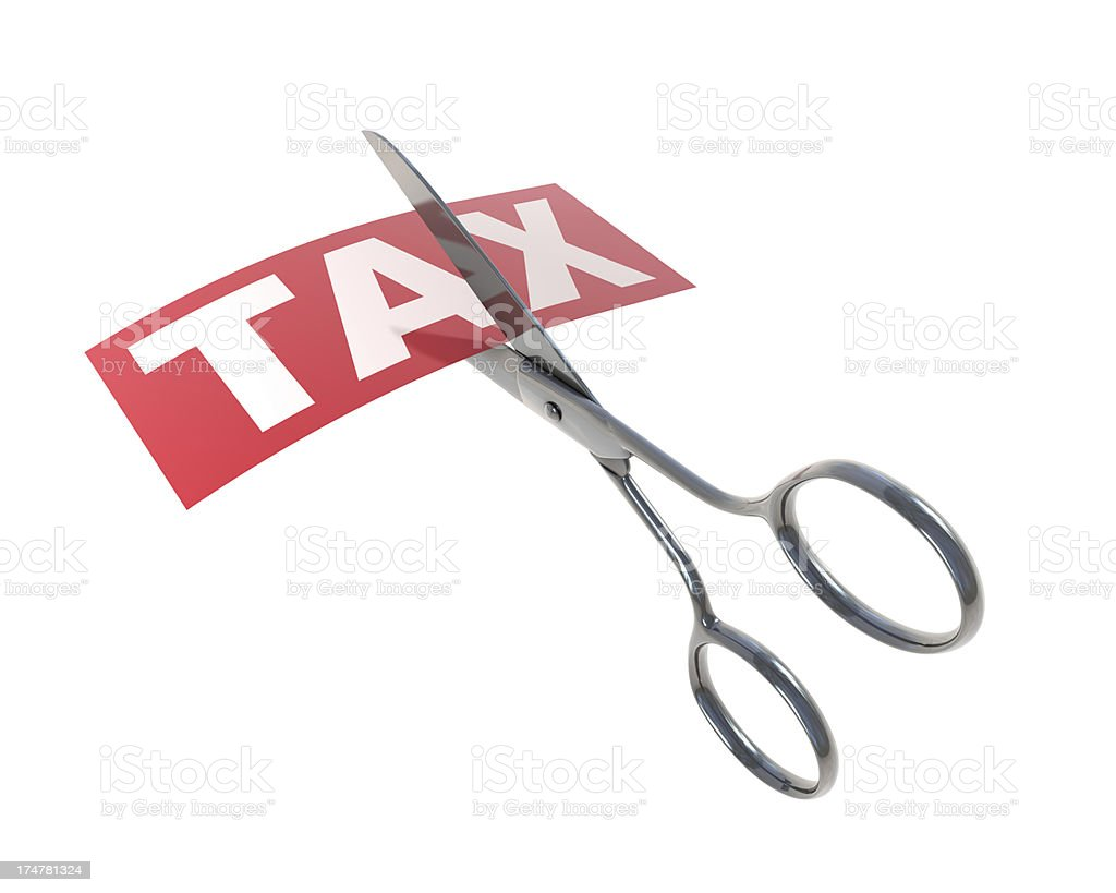 Tax and Scissors royalty-free stock photo
