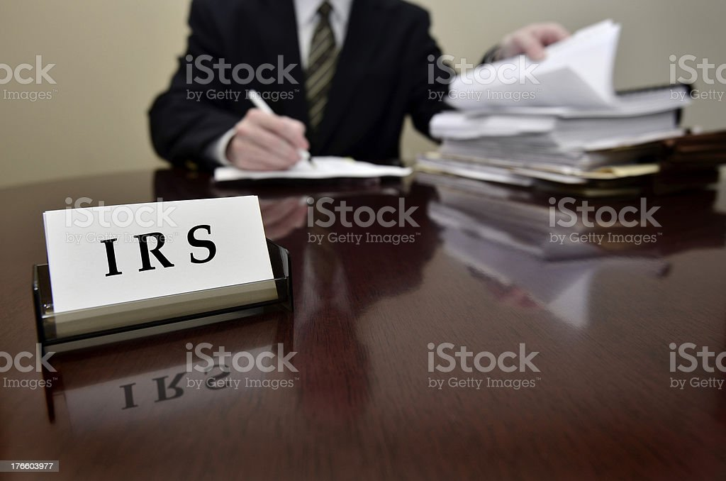 IRS Tax Auditor stock photo