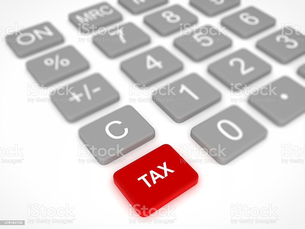 Tax calculator stock photo