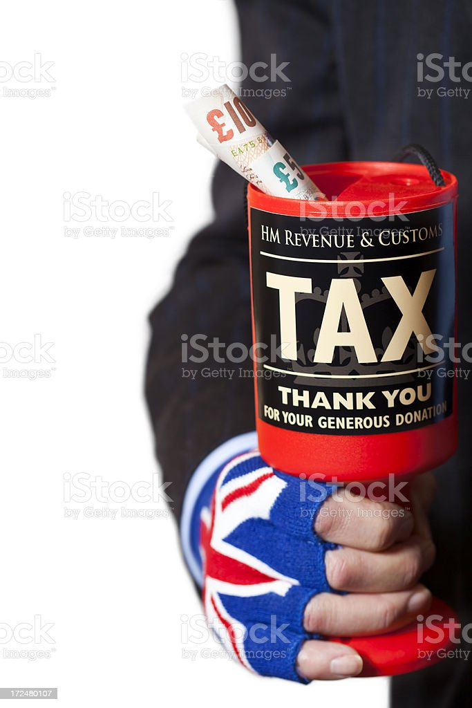 UK Tax Collecting stock photo