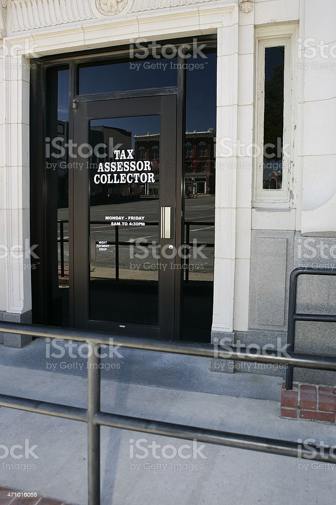Tax Collector's Office royalty-free stock photo