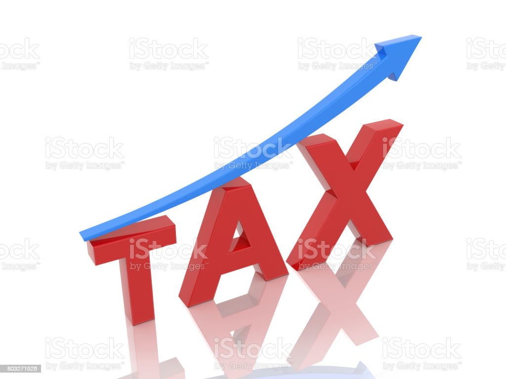 Tax concept with Arrow stock photo