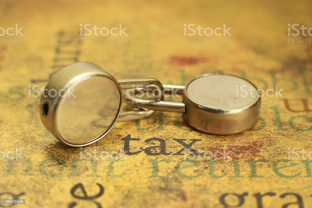 Tax concpet royalty-free stock photo