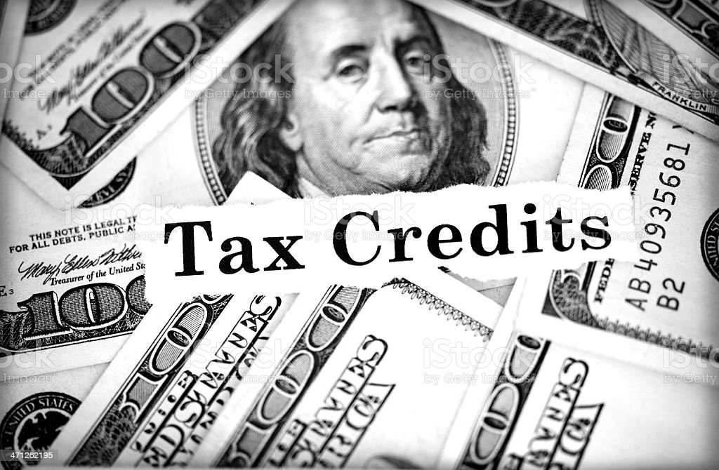 tax credits stock photo