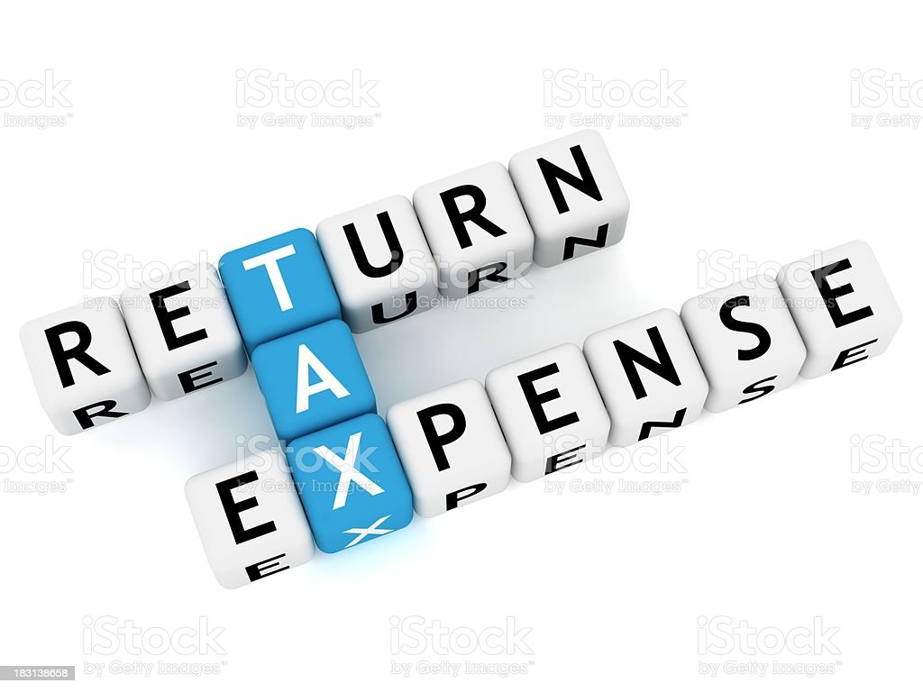 Tax Crossword royalty-free stock photo