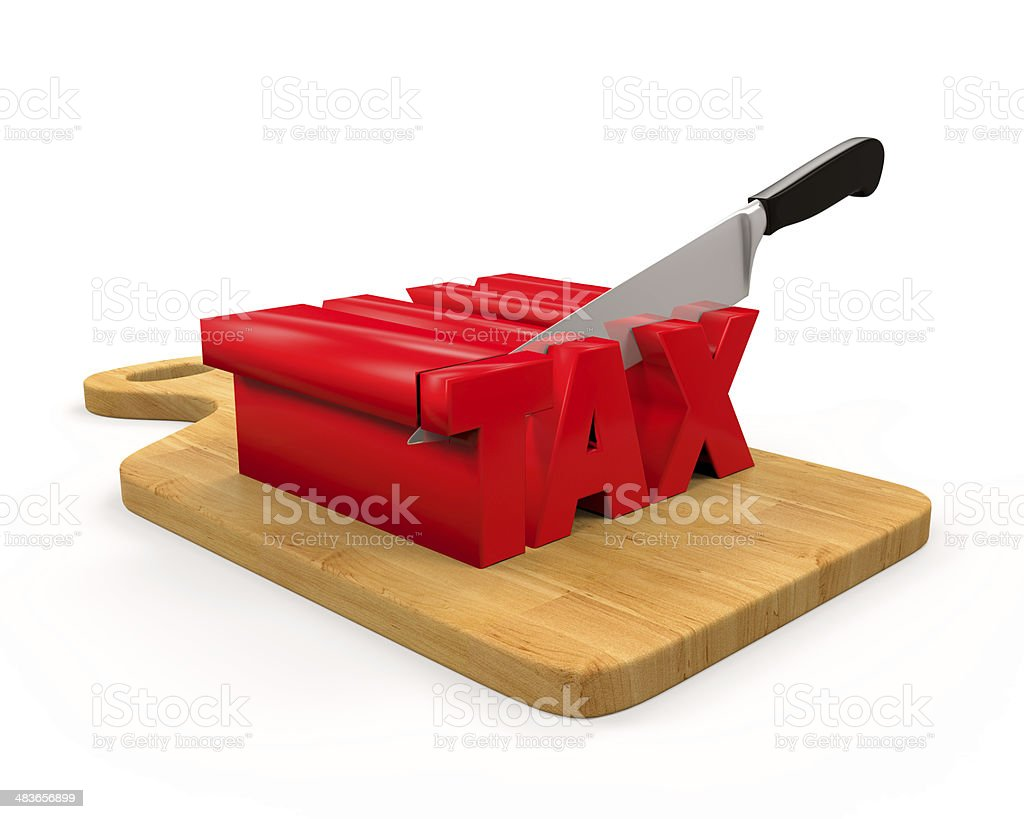 Tax Cut Concept stock photo