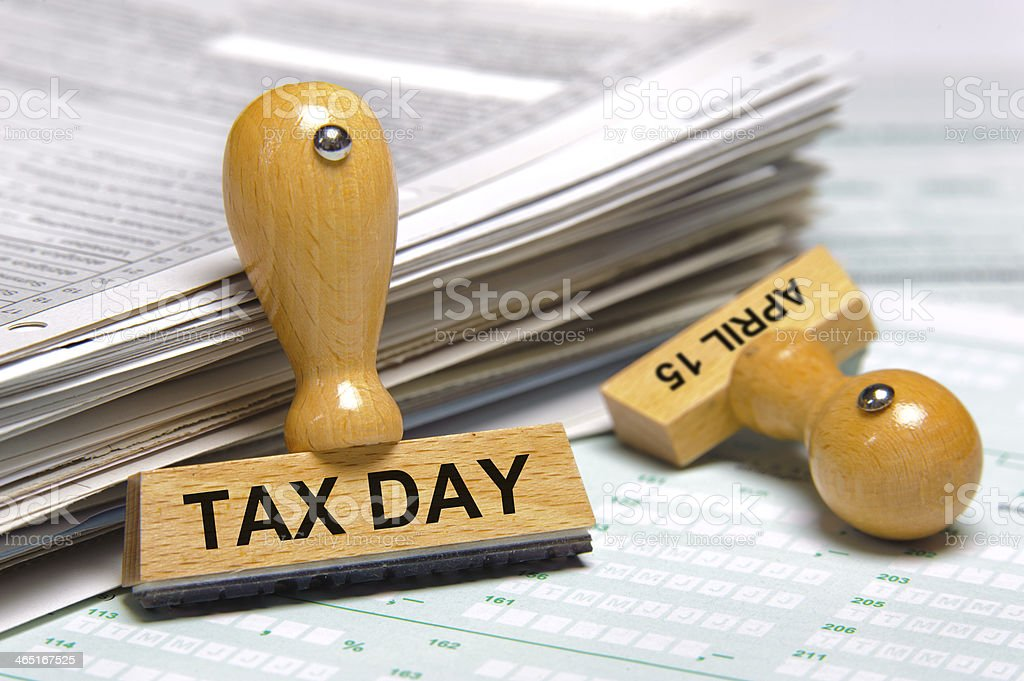 tax day April 15th stock photo