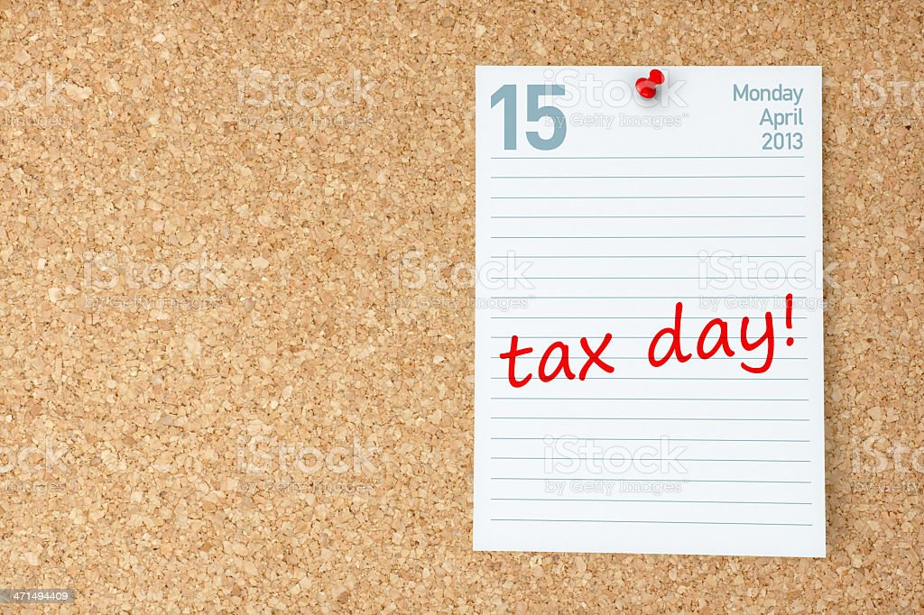 Tax Day Calendar royalty-free stock photo