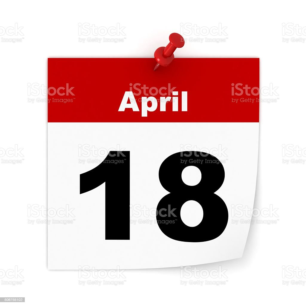 Tax day calendar stock photo