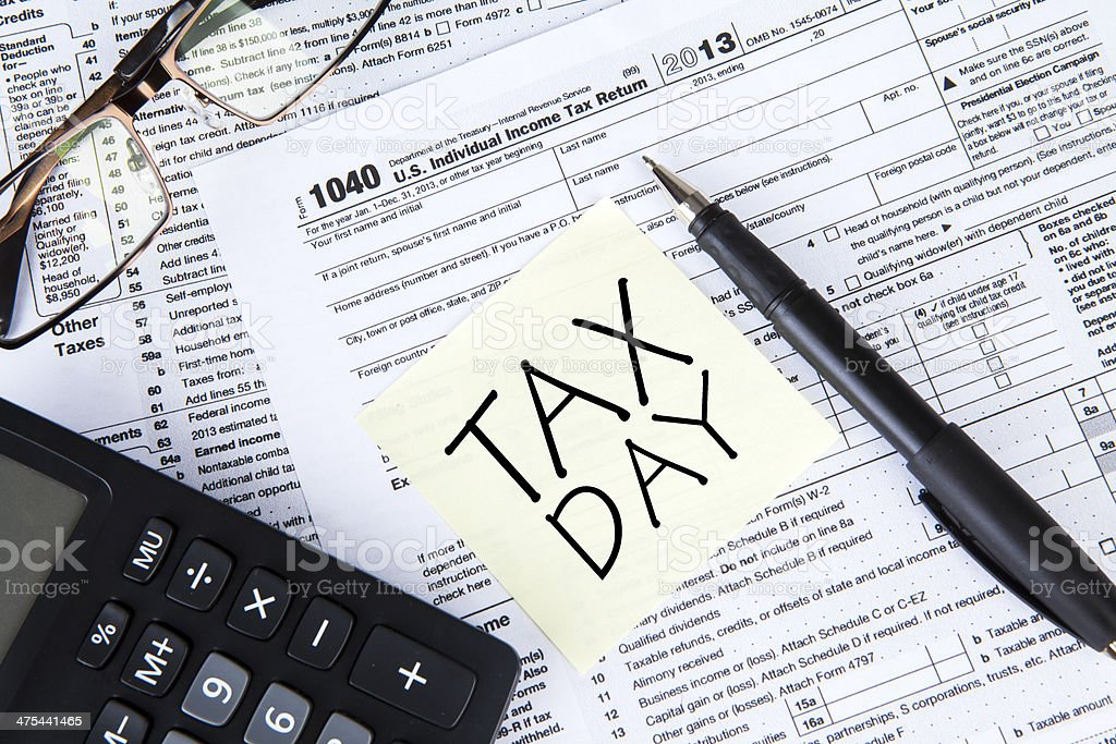 Tax Day Concept stock photo