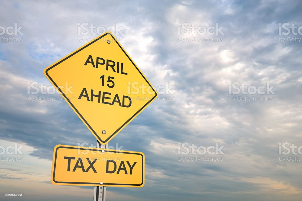 Tax Day stock photo