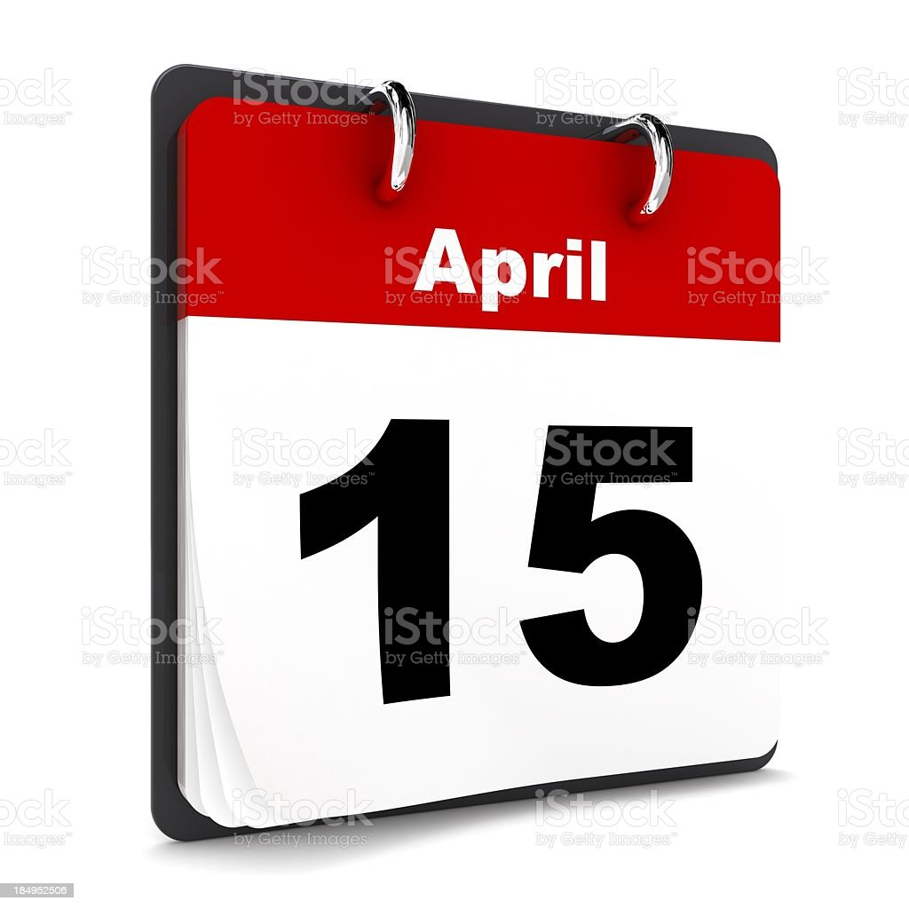 Tax Day Reminder stock photo
