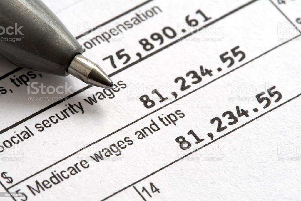 Tax Day W2 1040 Form stock photo