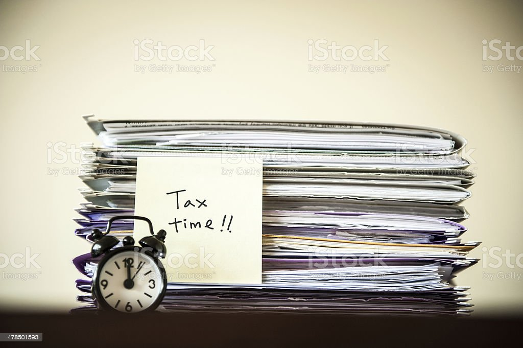 Tax deadline 2014 stock photo