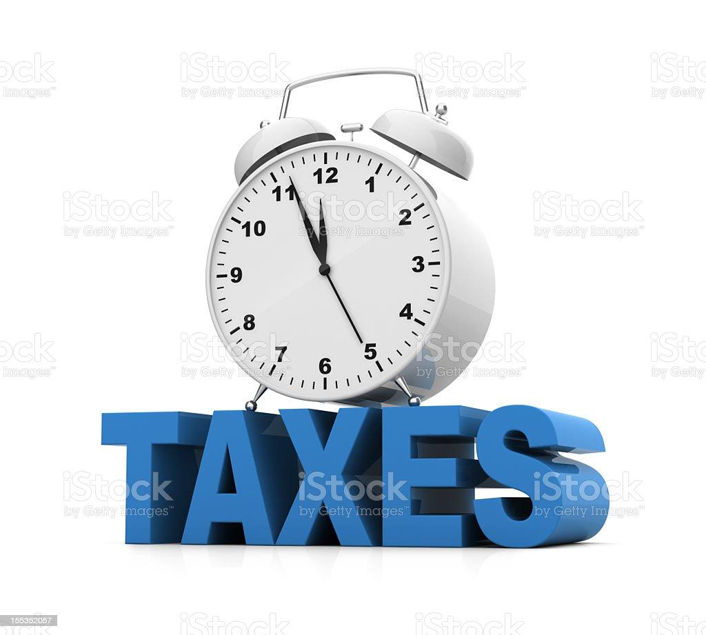 Tax Deadline Alarm Clock stock photo