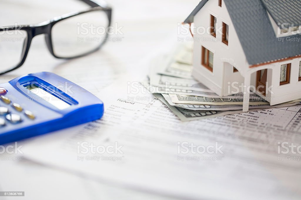 Tax deductions stock photo