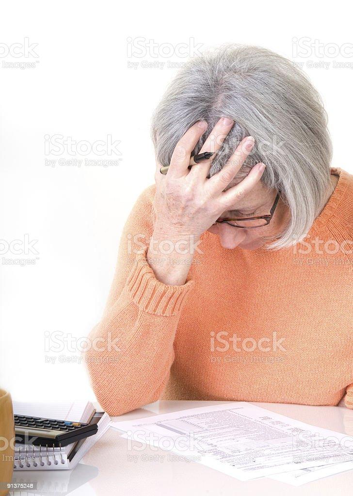Tax Despair stock photo