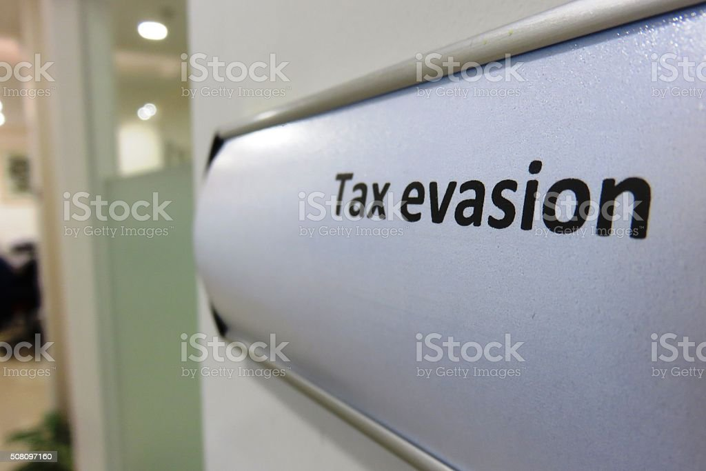 Tax evasion Concept stock photo