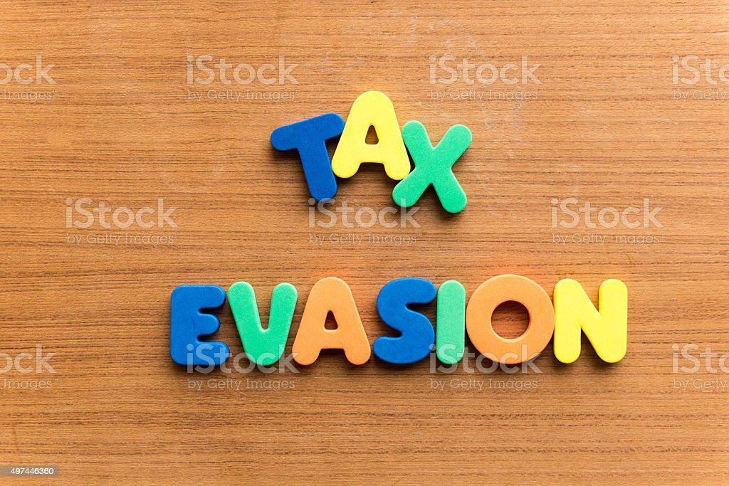 tax evasion stock photo