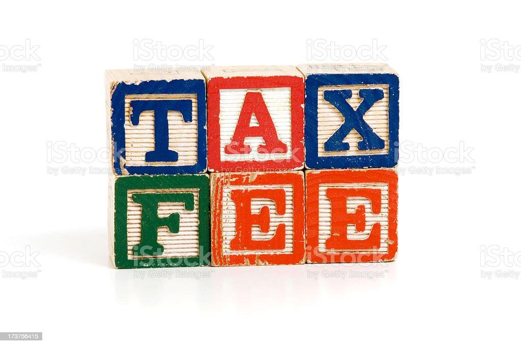 Tax Fee Blocks royalty-free stock photo