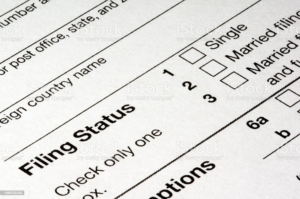 Tax Filing Status stock photo